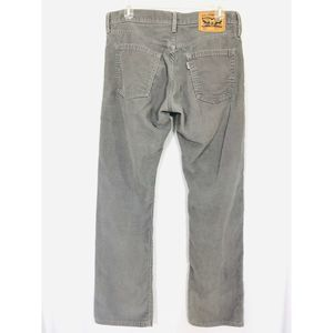 Levi's 514 Men's Gray Grey Corduroy Jeans W32 L32